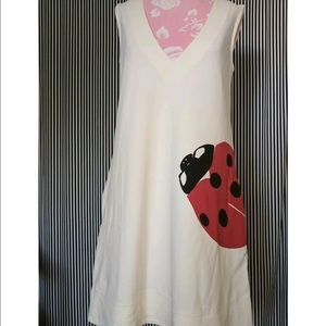 Diane Von Furstenberg Ivory LadyBug dress.
